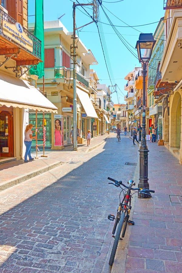 Straat in Rethymnon stock foto