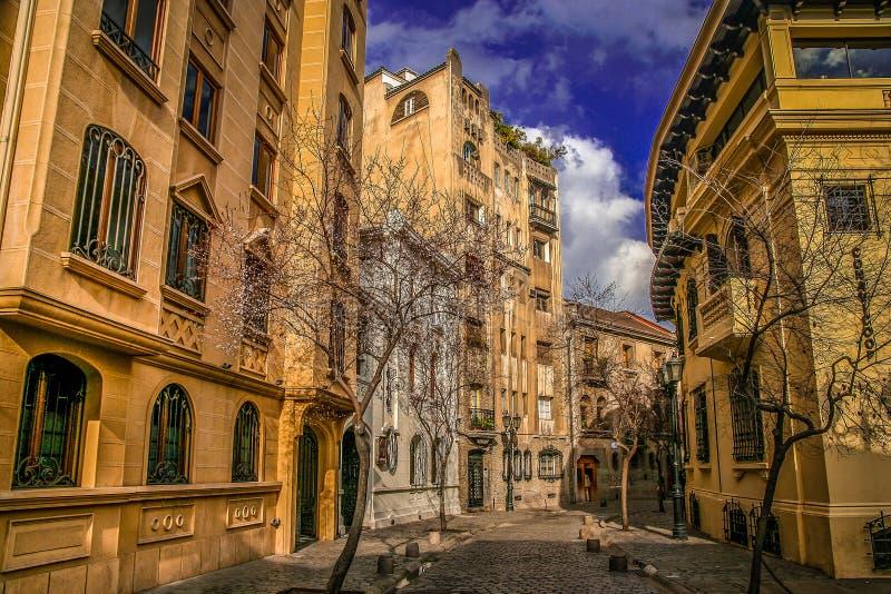 Straat in Santiago stock fotografie