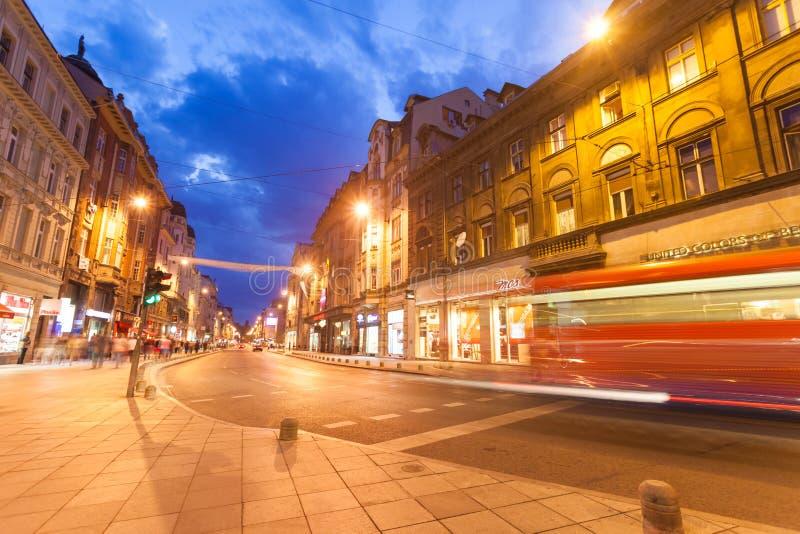 Straat in Sarajevo stock afbeeldingen