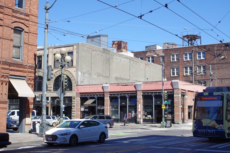 Straat in Seattle royalty-vrije stock foto