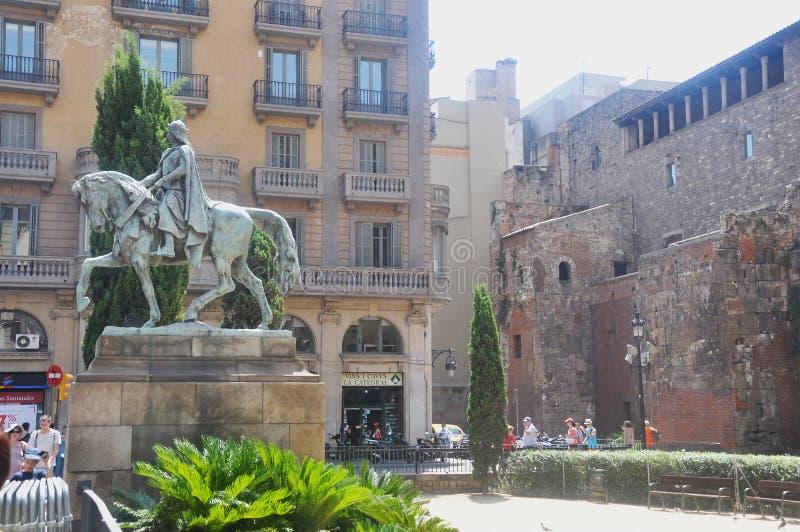 Straat in Spanje stock afbeelding