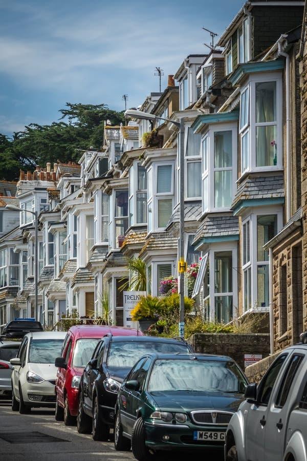 Straat in St Ives stock afbeeldingen