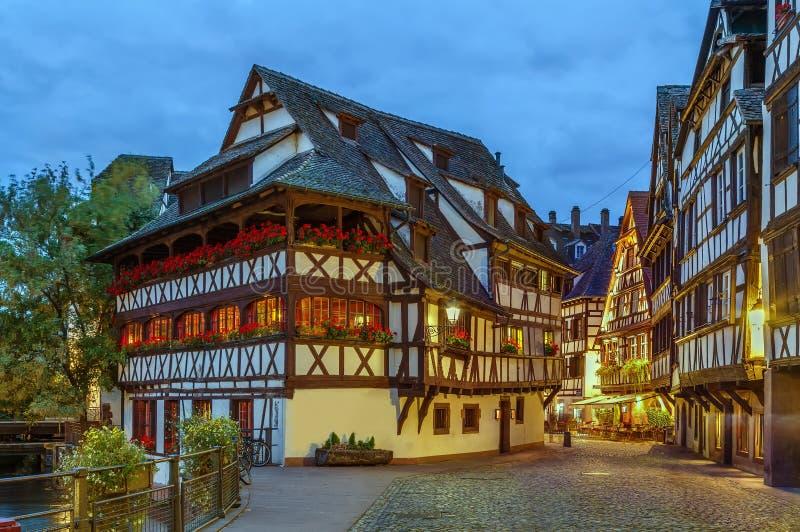 Straat in Straatsburg, Frankrijk royalty-vrije stock foto's