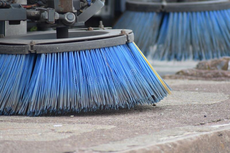 Straat sweeper van brushes stock fotografie