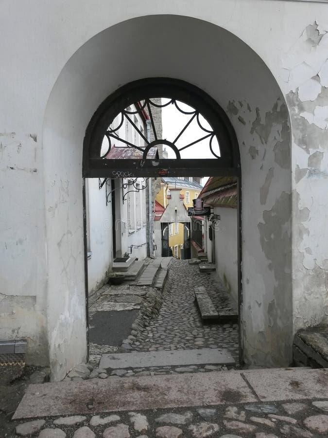 Straat in Tallinn royalty-vrije stock fotografie
