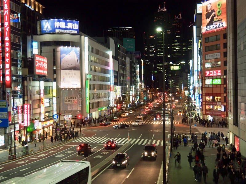 Straat in Tokyo Shinjuku royalty-vrije stock foto