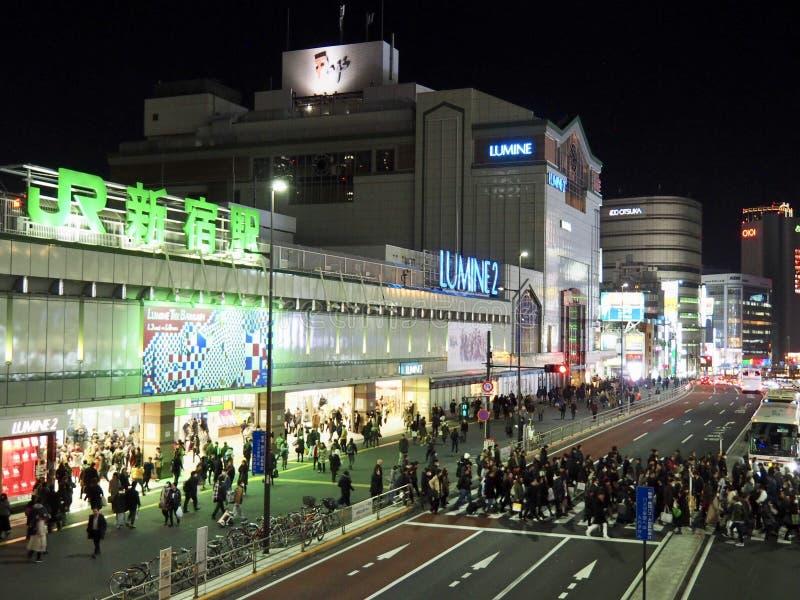 Straat in Tokyo Shinjuku royalty-vrije stock fotografie