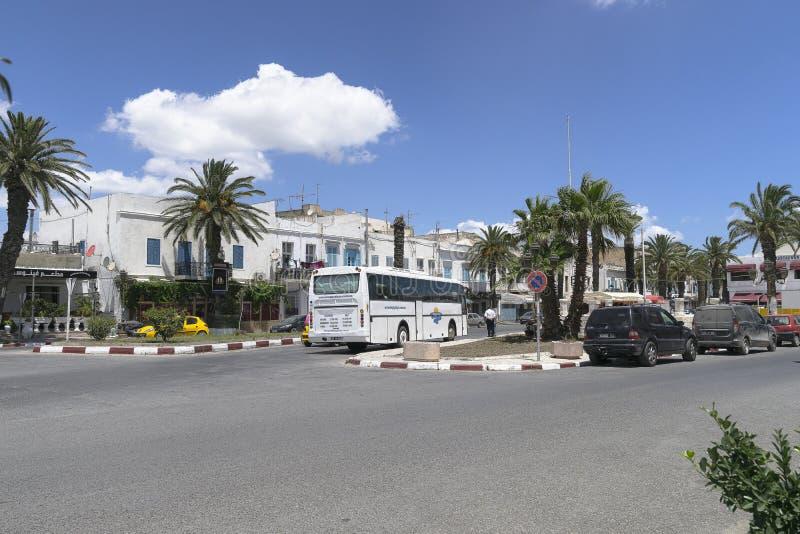 Straat in Tunis stock afbeeldingen