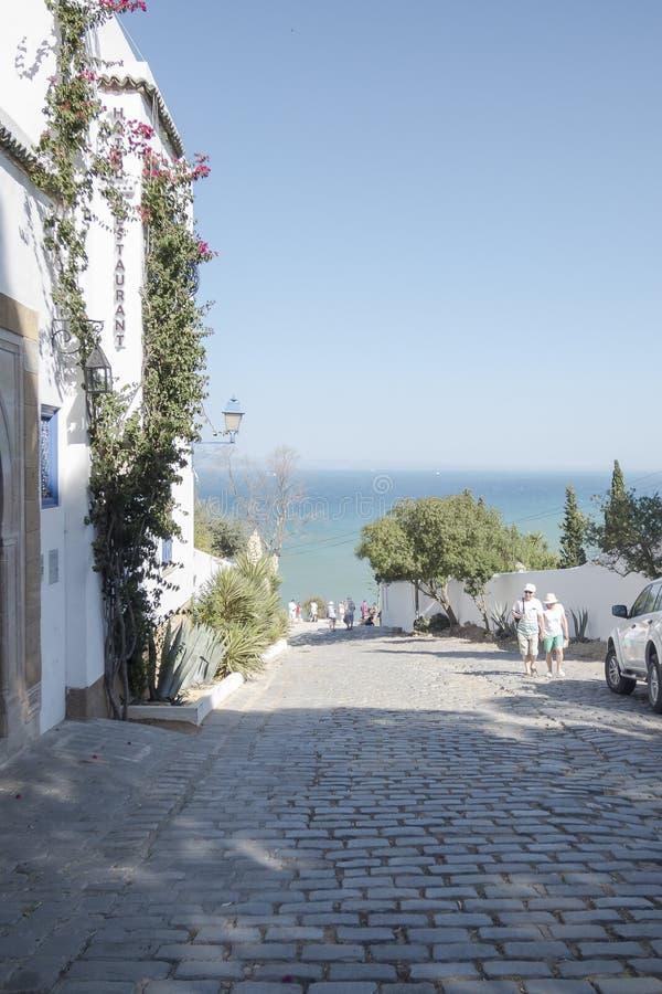 Straat in Tunis royalty-vrije stock foto's