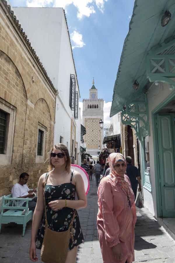 Straat in Tunis royalty-vrije stock afbeelding