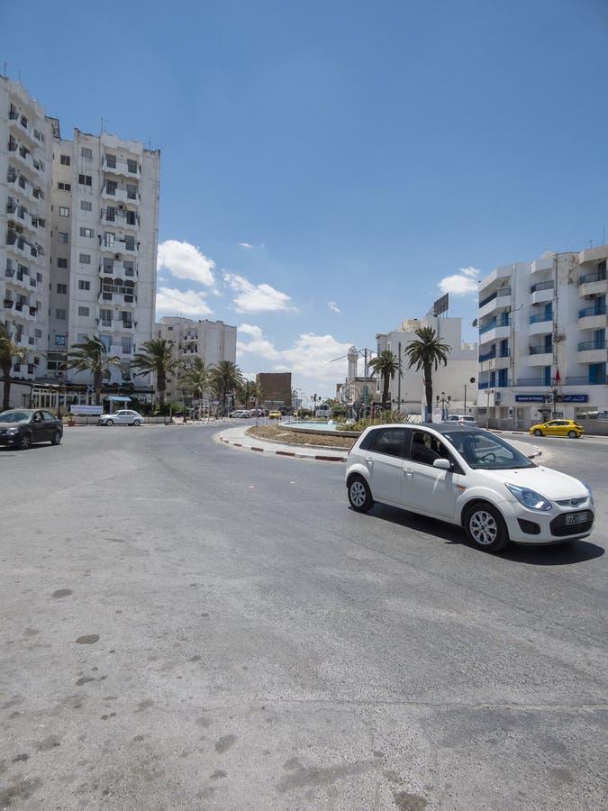 Straat in Tunis royalty-vrije stock fotografie