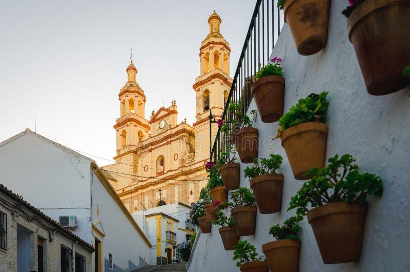 Straat typisch van Olvera, CÃ ¡ diz stock fotografie