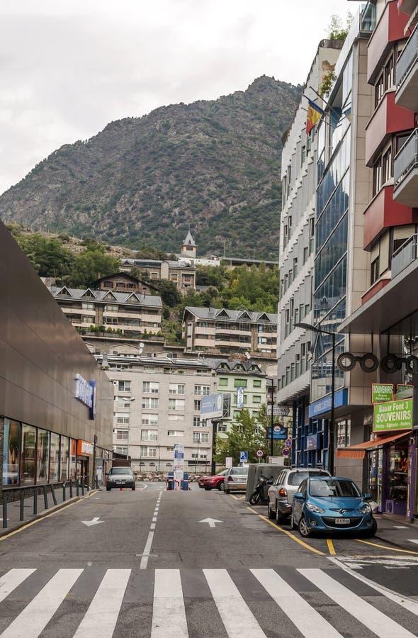Straat van Andorra stock afbeelding