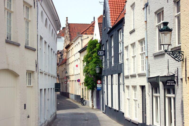 Straat van Brugge in België royalty-vrije stock foto
