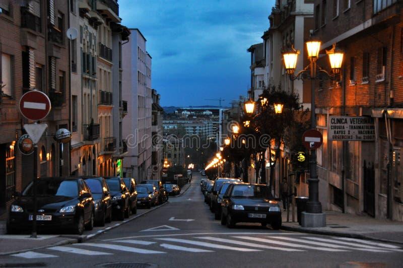 Straat van de Spaanse stad van Oviedo provincie van Asturias stock foto