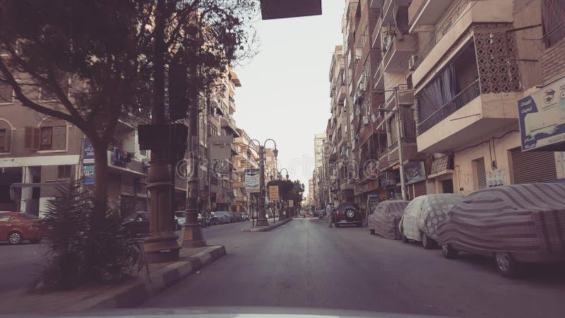 Straat van de stad stock foto's