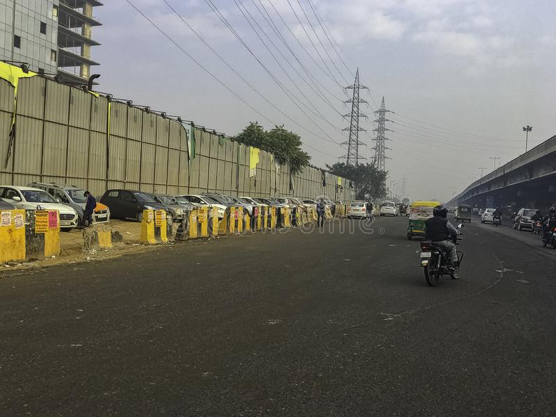 Straat van Gurgaon/Gurugram, New Delhi royalty-vrije stock fotografie