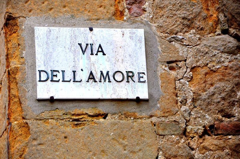Straat van liefde in Italië royalty-vrije stock afbeeldingen