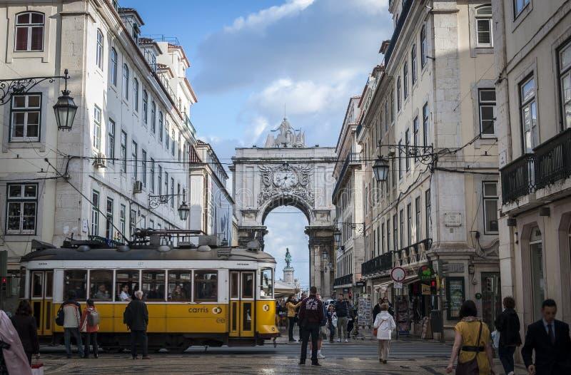 Straat van Lissabon royalty-vrije stock afbeelding