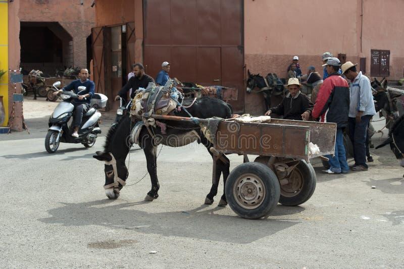 Straat van Marrakech royalty-vrije stock fotografie