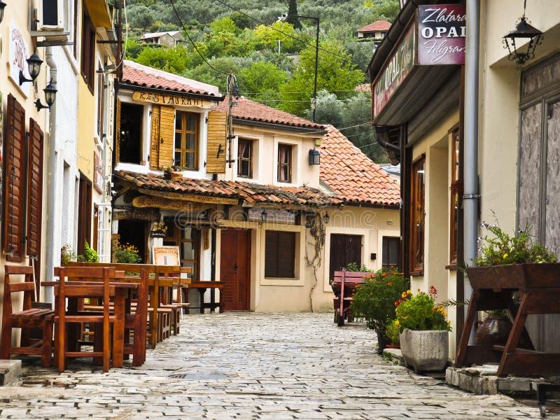 Straat van oude stad in Montenegro royalty-vrije stock fotografie