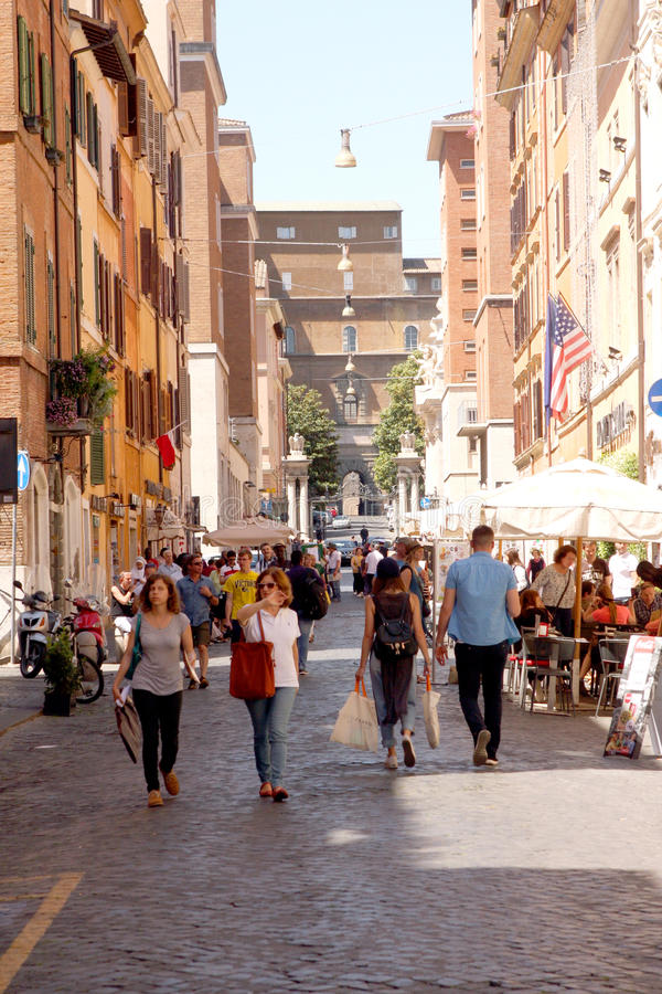 Straat van Rome Italië stock foto's