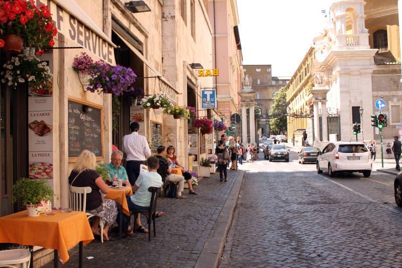 Straat van Rome Italië stock afbeelding