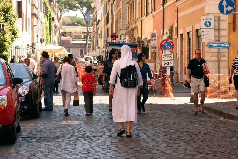 Straat van Rome Italië stock afbeeldingen