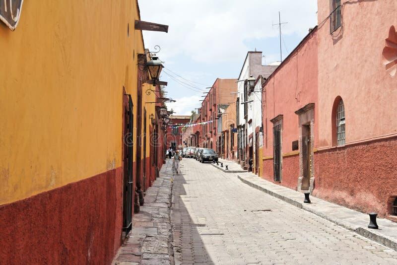 Straat van San Miguel Allende royalty-vrije stock fotografie