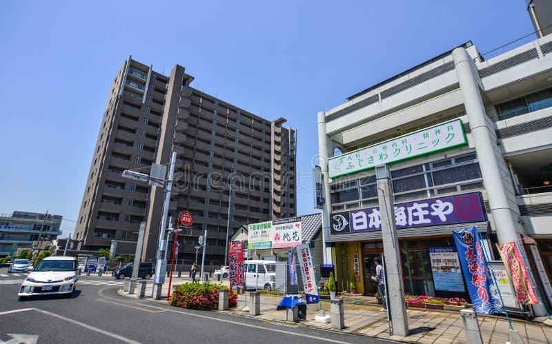Straat van Utsunomiya, Japan stock foto