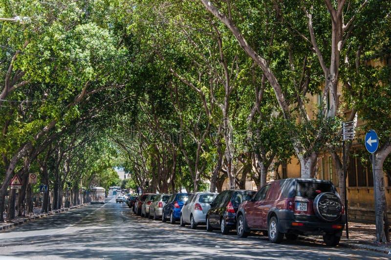 Straat van Valletta in Malta stock foto