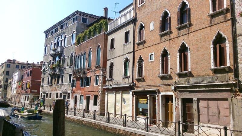 Straat van Venetië, Italië stock foto's