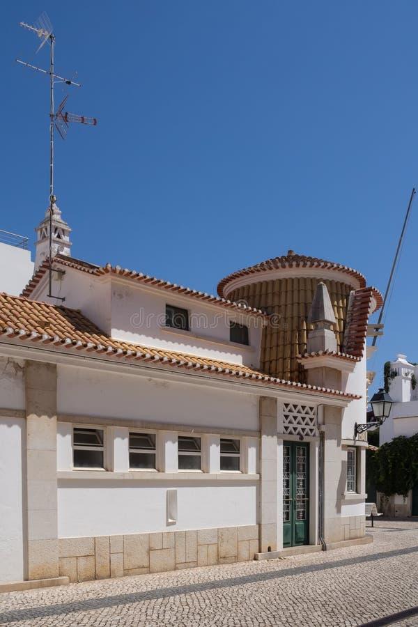 Straat van Villa Echt DE Santo Antonio, Portugal stock fotografie