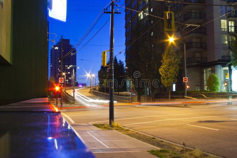 Straat in Vancouver royalty-vrije stock afbeeldingen