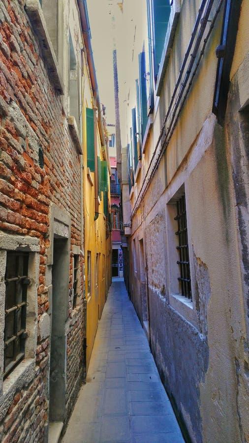 Straat in venecia royalty-vrije stock afbeeldingen
