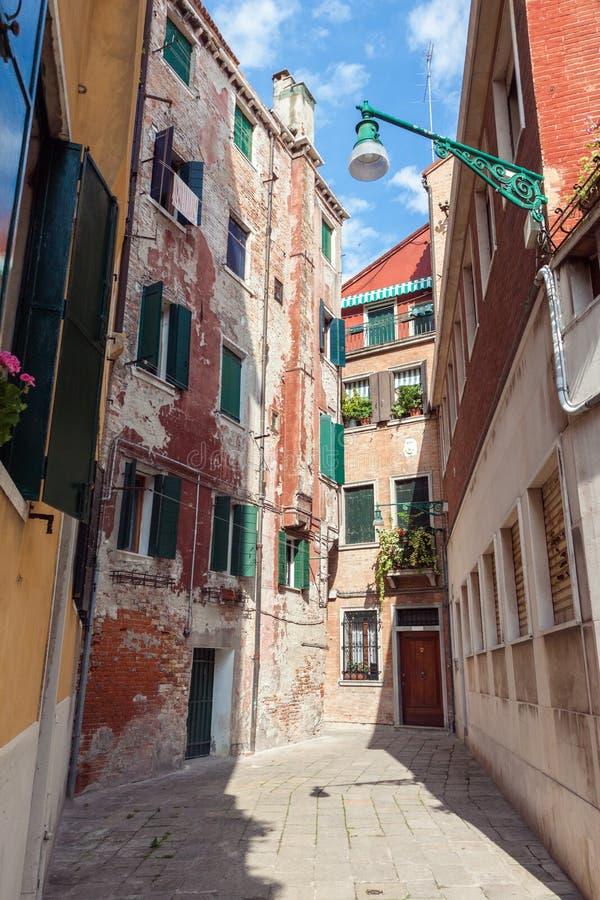 Straat in Venetië royalty-vrije stock fotografie