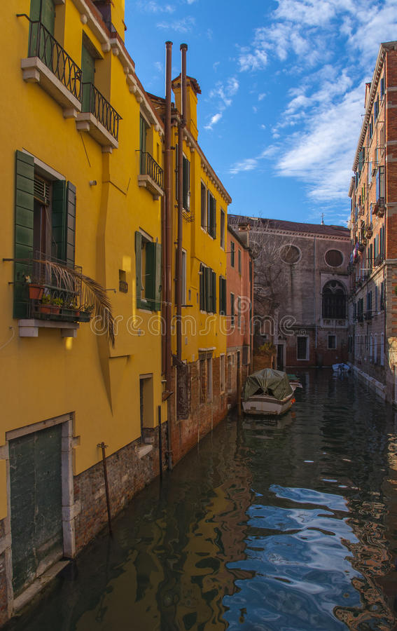 Straat in Venetië, Italië stock fotografie