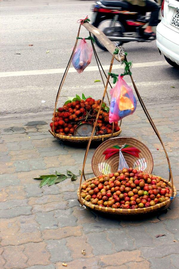 straat verkoper stock afbeelding