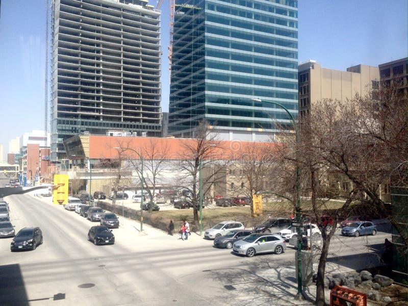 Straat in Winnipeg Van de binnenstad stock foto's