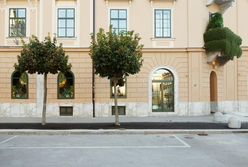 straat zijaanzicht stock fotografie