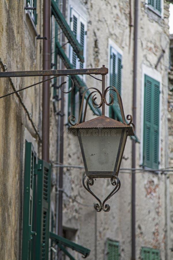 Straatdetail in Castel Vittorio royalty-vrije stock foto's