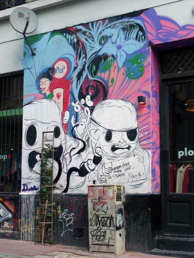 Straatgraffiti royalty-vrije stock foto