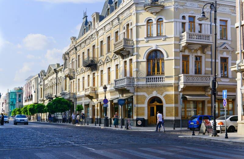 Straathoek van de stad royalty-vrije stock afbeelding