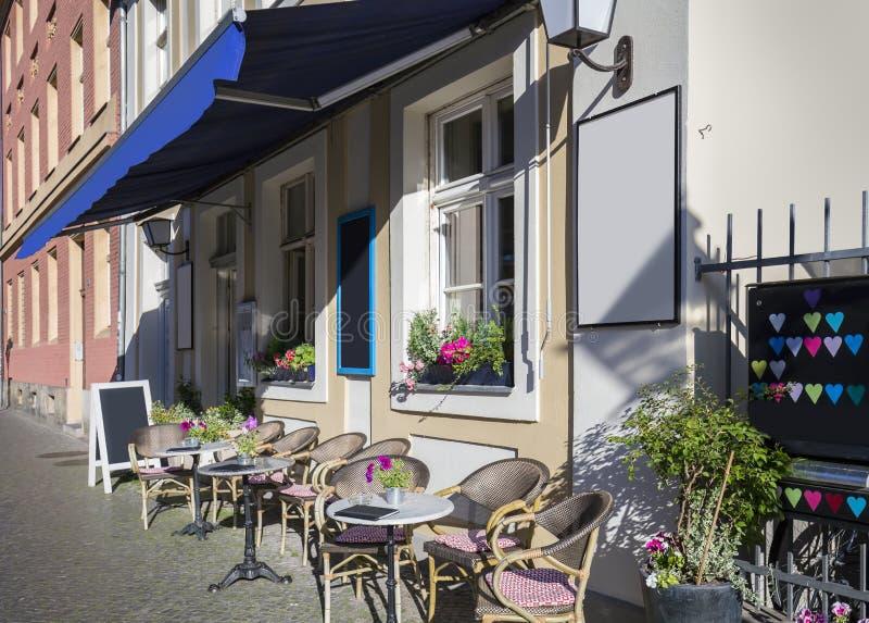 Straatkoffie in Potsdam stock afbeeldingen