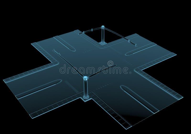 Straatkruising vector illustratie