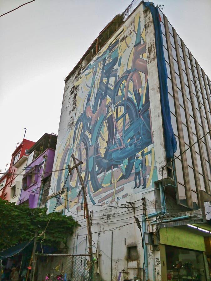 Straatkunst in Bangkok royalty-vrije stock foto