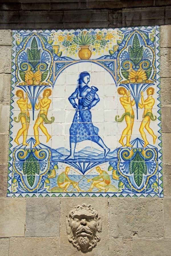 Straatkunst in Barcelona, Spanje royalty-vrije stock foto's
