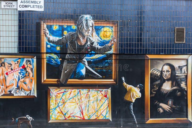 Straatkunst in Glasgow, het UK royalty-vrije stock afbeelding