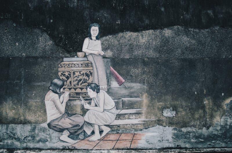 Straatkunst het schilderen royalty-vrije stock foto's