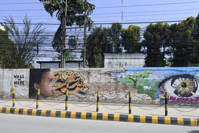 Straatkunst in Katmandu, Nepal royalty-vrije stock fotografie